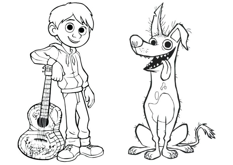 Coco Dog Coloring Pages