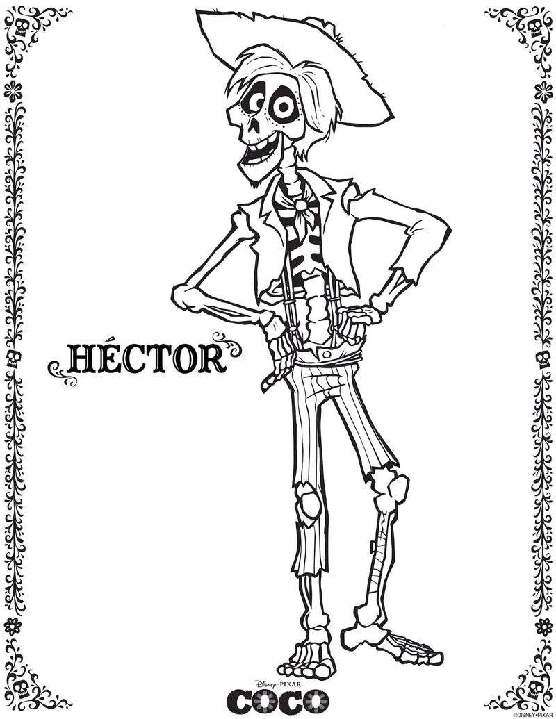 Coco Printable Coloring Pages