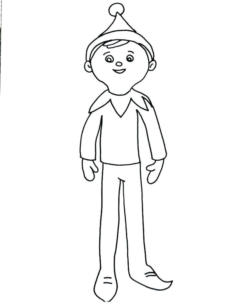 Codename Elf Coloring Pages