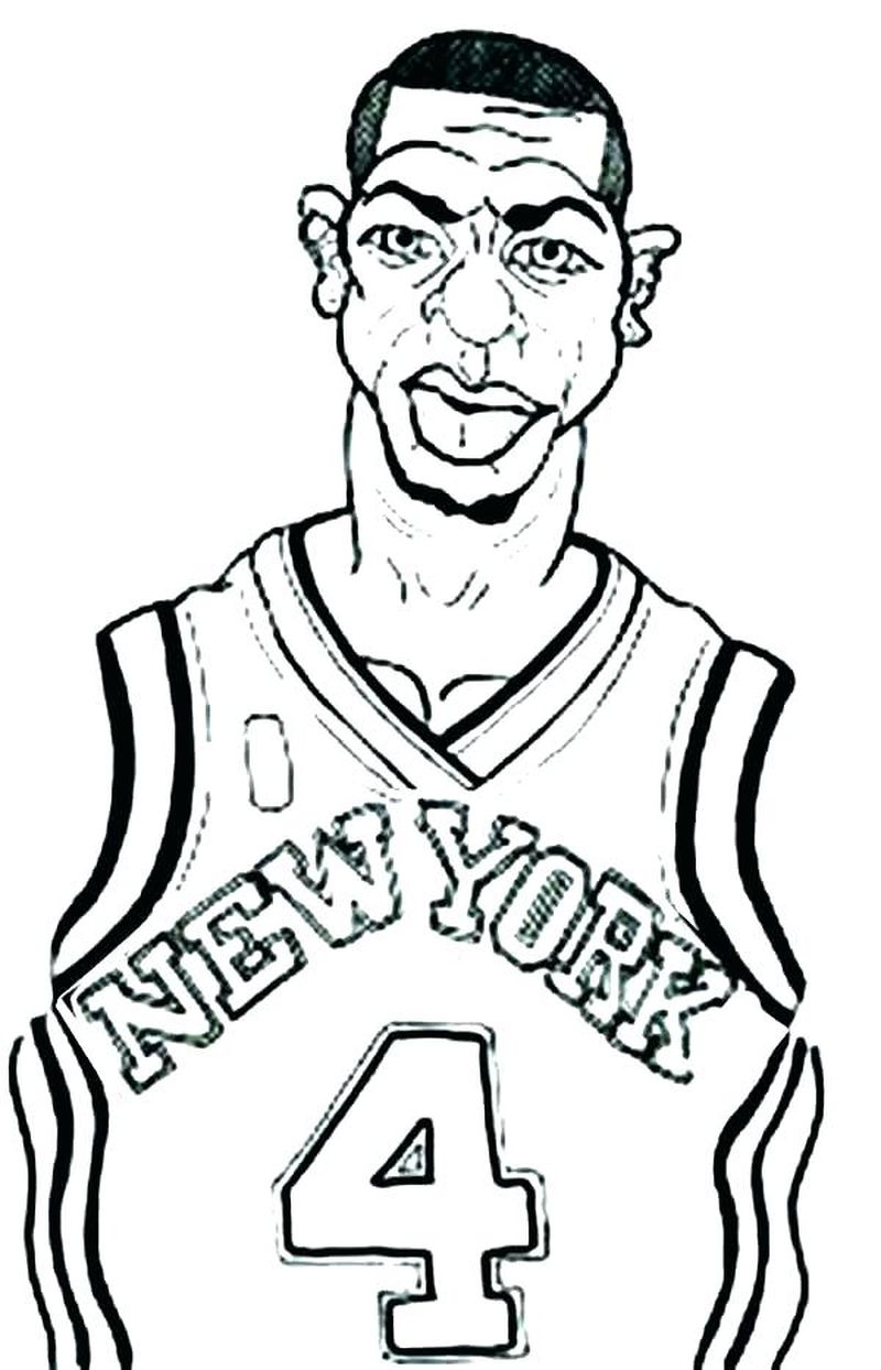 College Basketball Coloring Pages