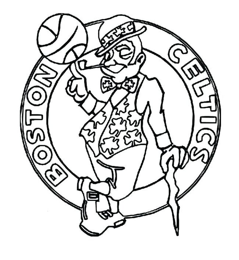 College Basketball Logos Coloring Pages