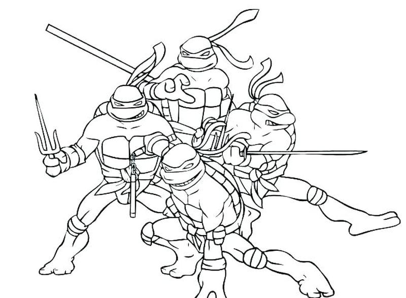 Color Ninja Turtles Coloring Pages