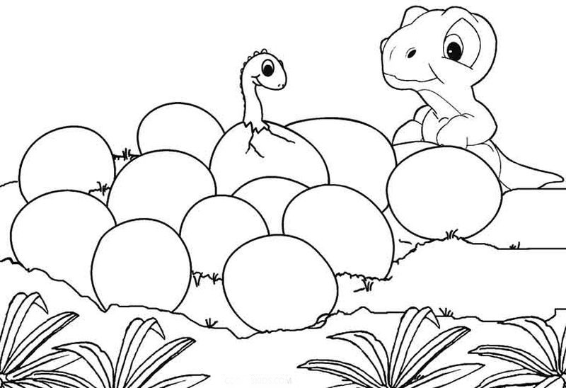 Coloring Dinosaur Pages
