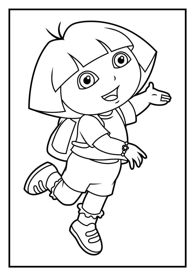 Coloring Dora Pages