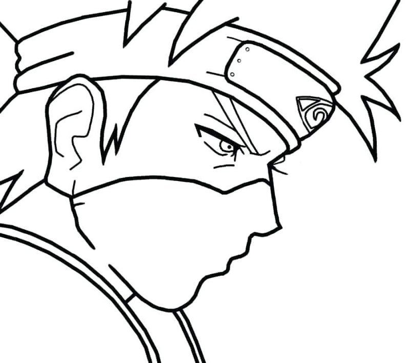Coloring Page For Naruto