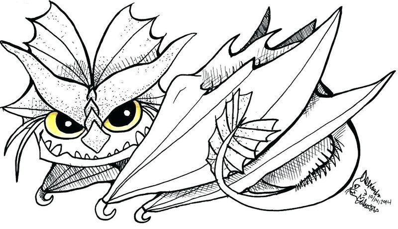 Coloring Page Of A Dragon