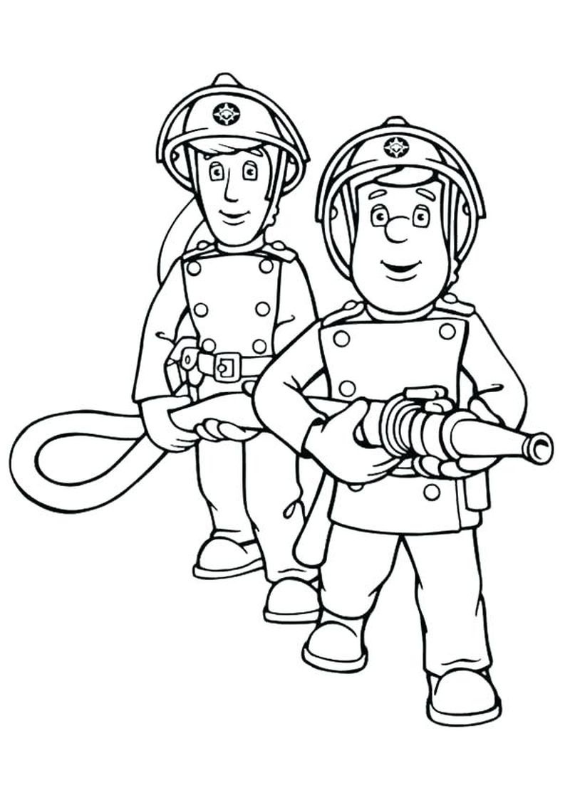 Coloring Page Of A Fireman