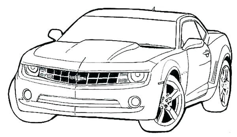 Coloring Page Of A Race Car