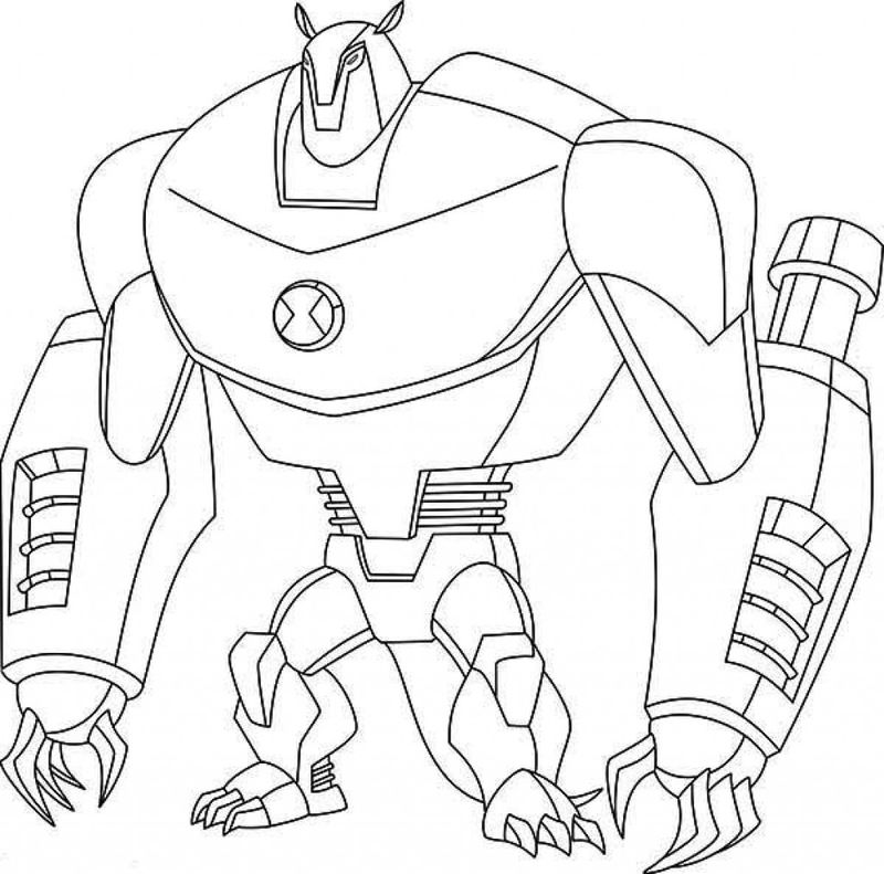 Coloring Page Of Ben 10