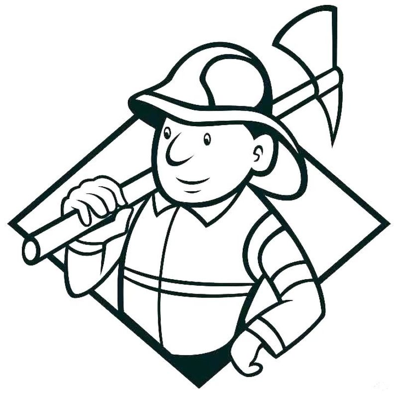 Coloring Page Of Fireman