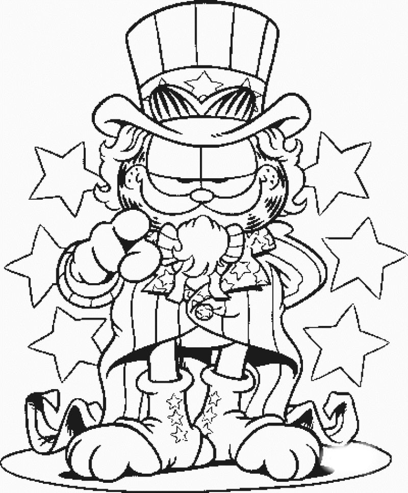 Coloring Page Of Garfield Cool Pict