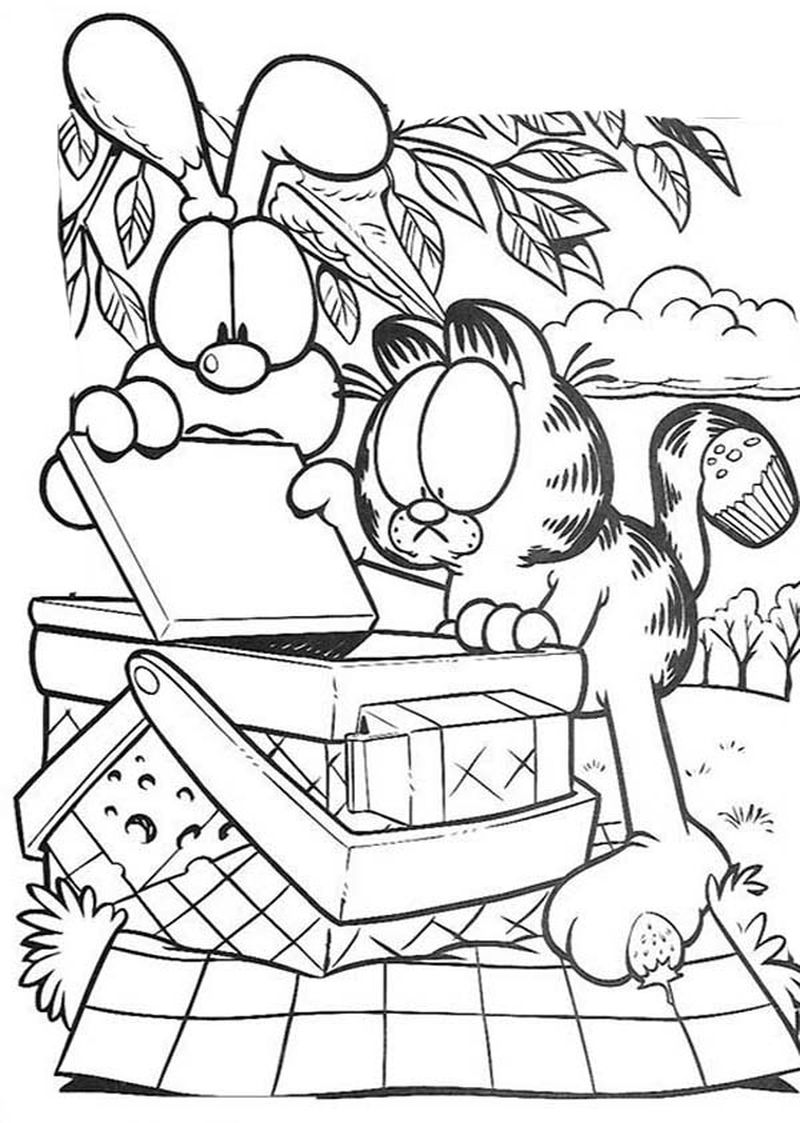 Coloring Page Of Garfield Cool