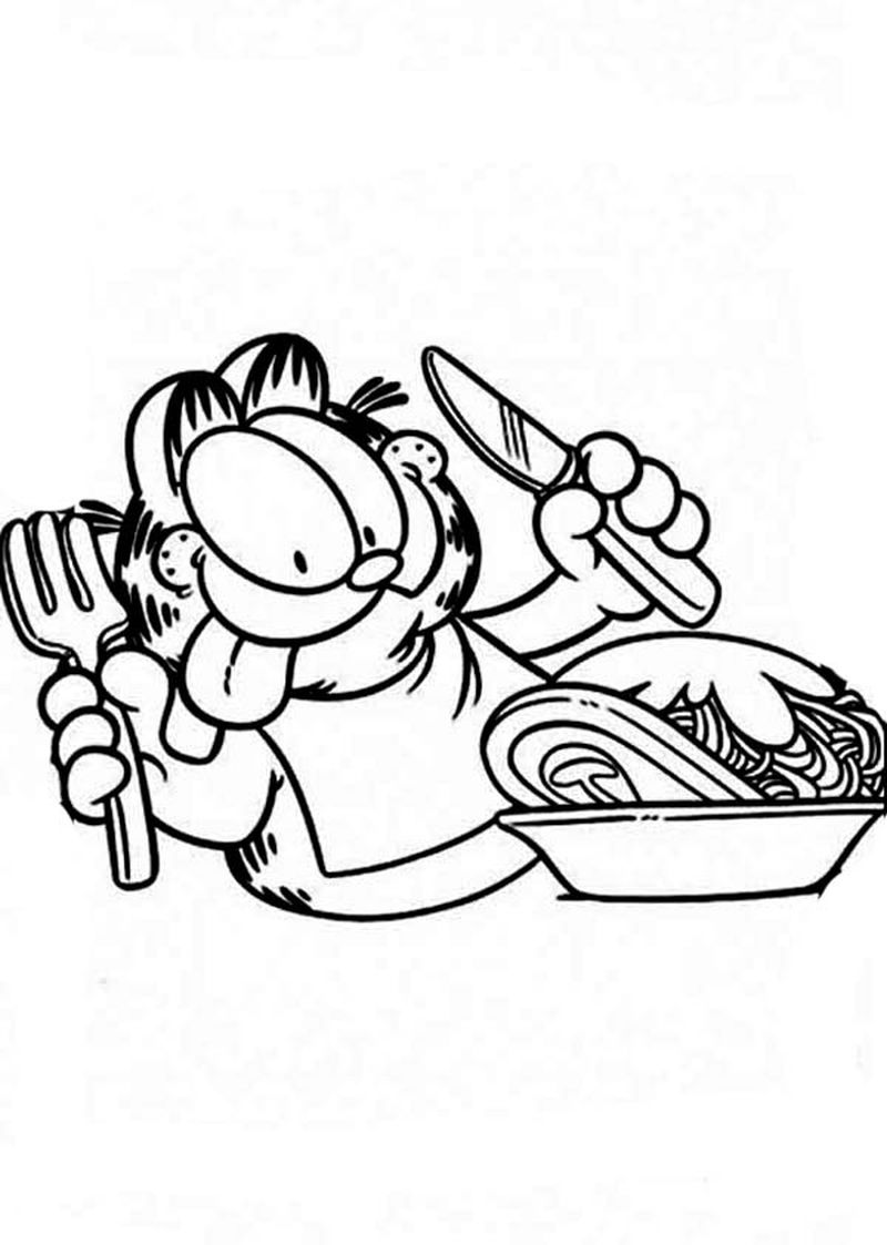 Coloring Page Of Garfield Ok