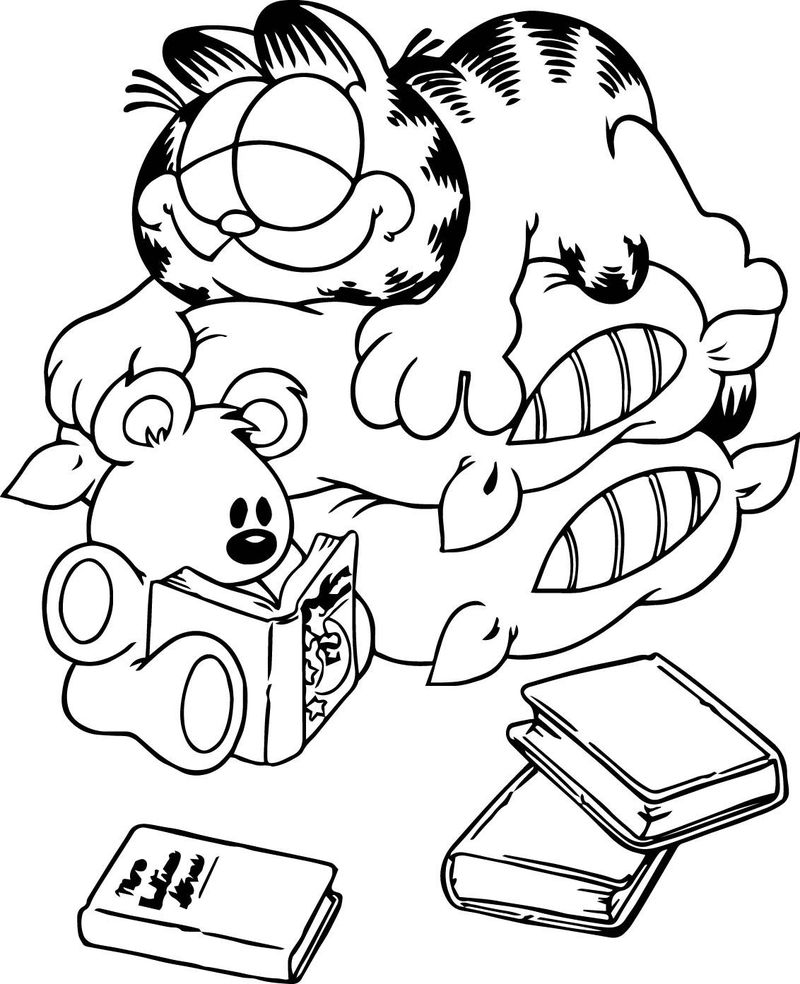 Coloring Page Of Garfield Pdf