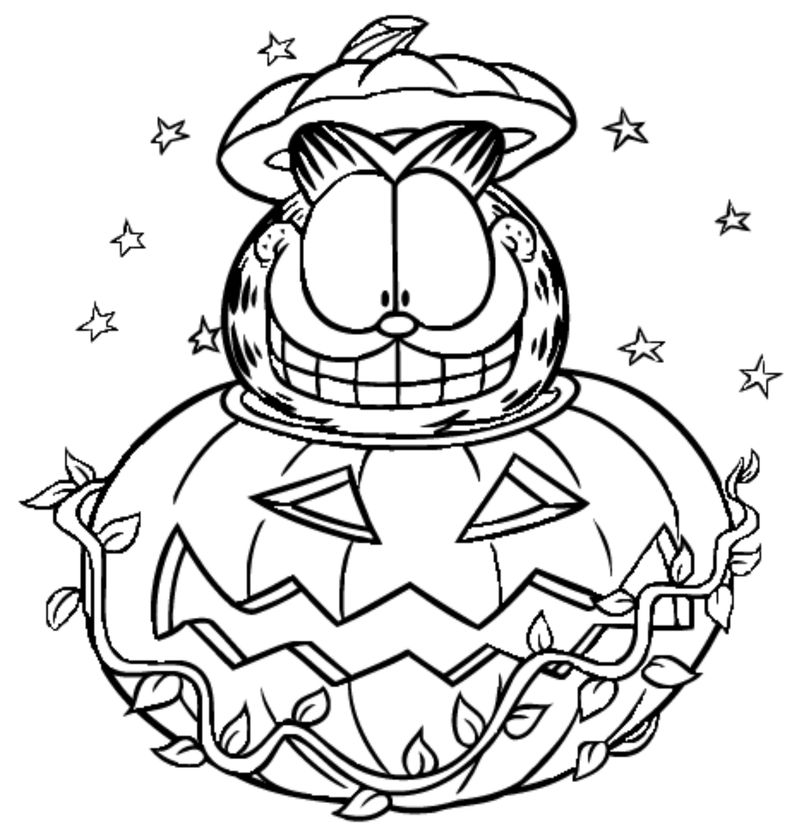 Coloring Page Of Garfield free page