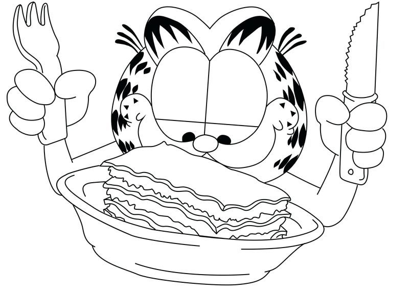 Coloring Page Of Garfield free pict