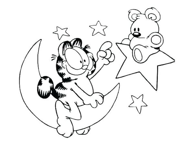 Coloring Page Of Garfield page free