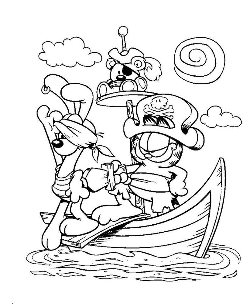 Coloring Page Of Garfield pict online