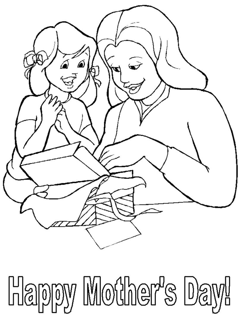 Coloring Page Of Mothers Day