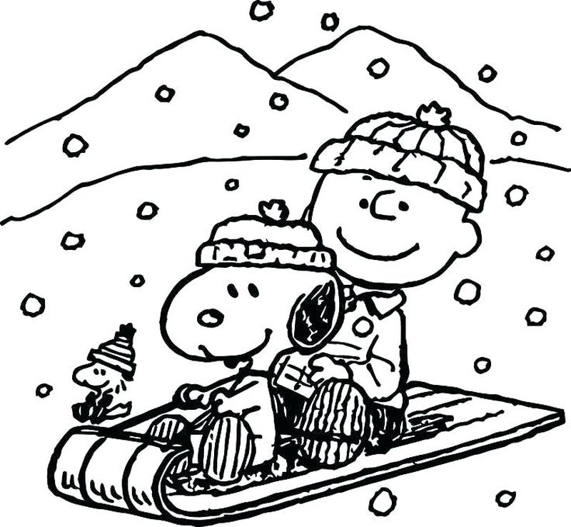 Coloring Page Of Snoopy