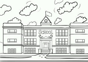 Coloring Pages A House