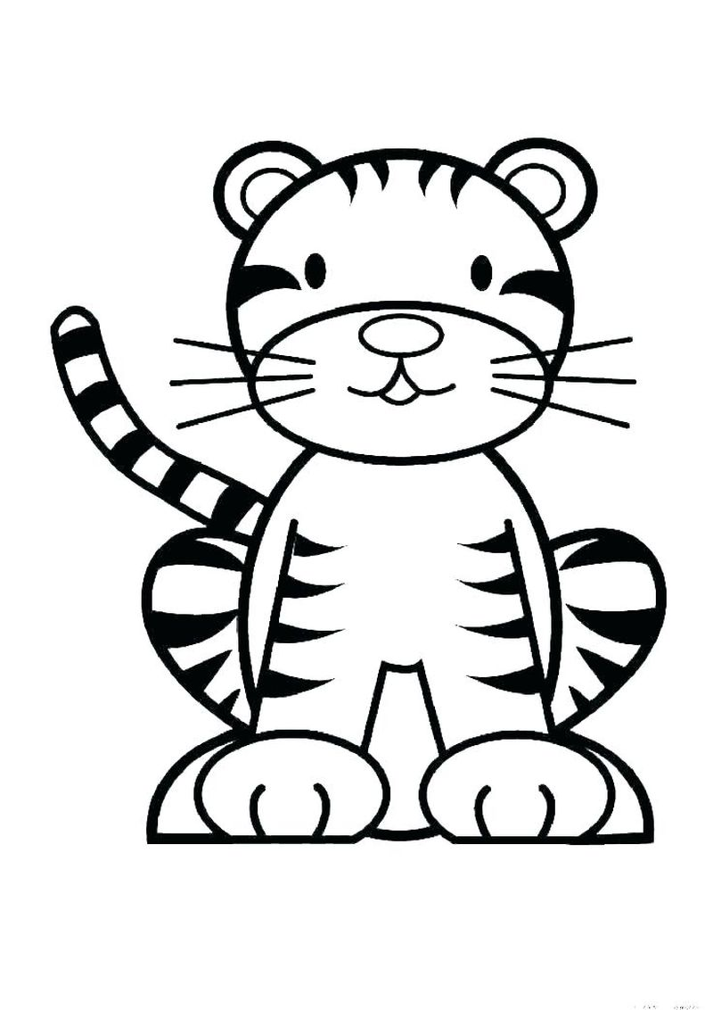 Coloring Pages A Tiger