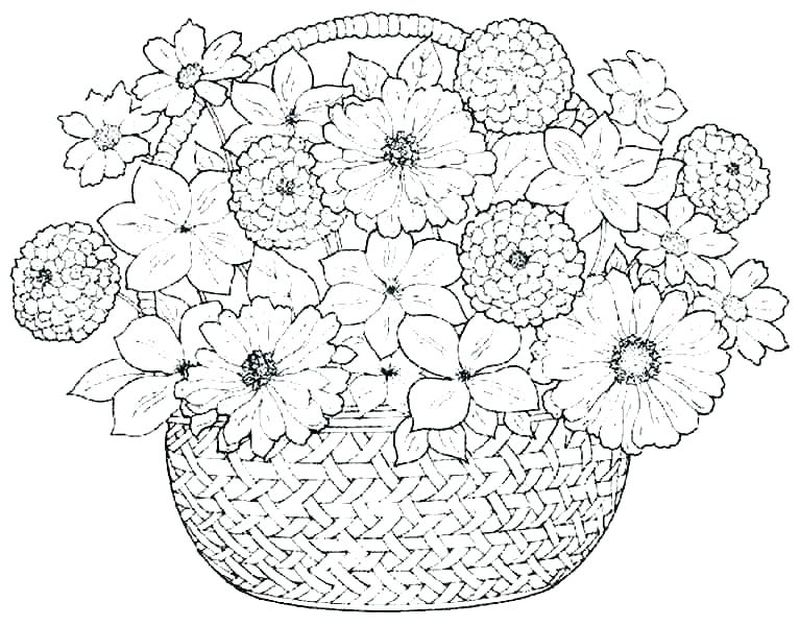 Coloring Pages About Flowers