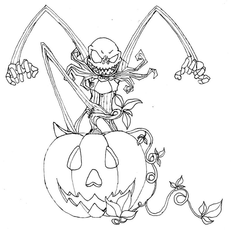 Coloring Pages About Halloween