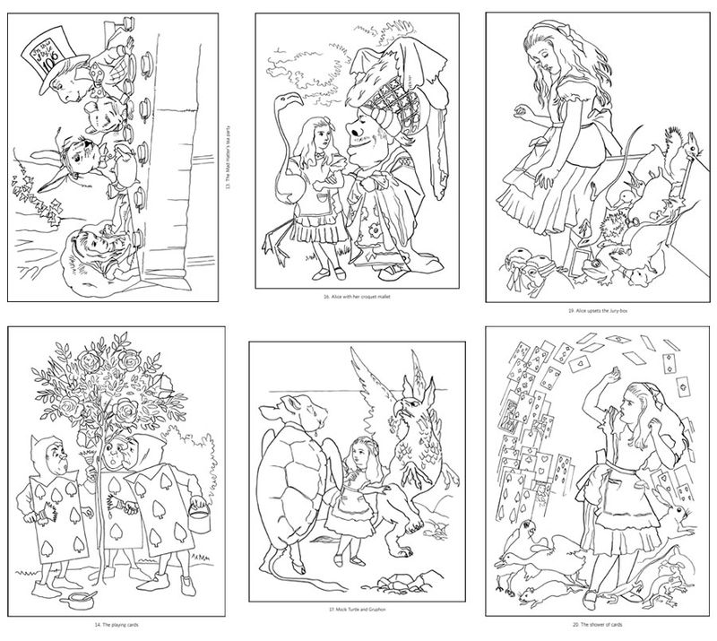 Coloring Pages Alice In Wonderland