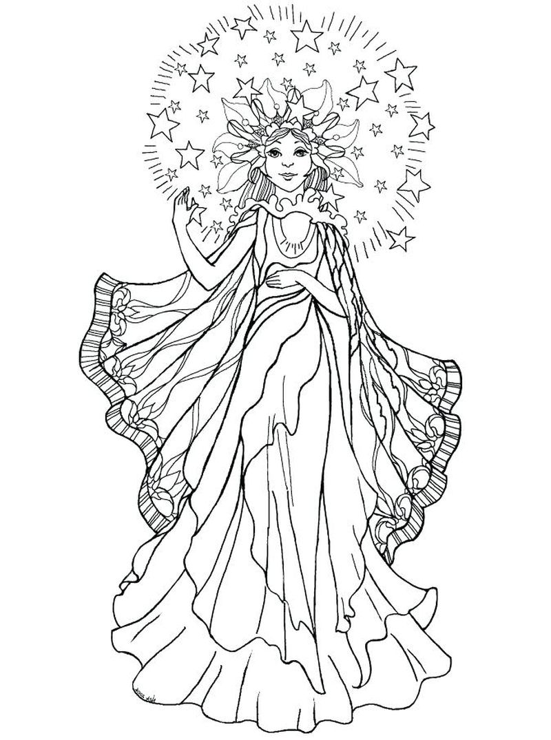 Coloring Pages Angel
