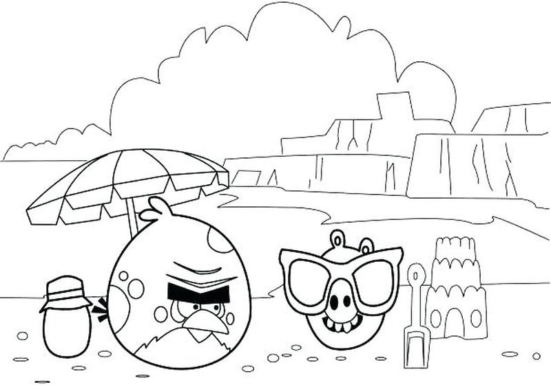 Coloring Pages Angry Birds Pigs