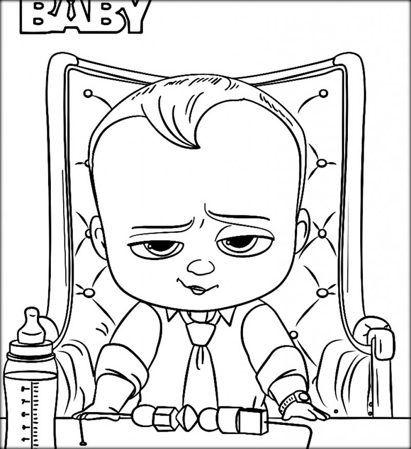 Coloring Pages Baby Boss