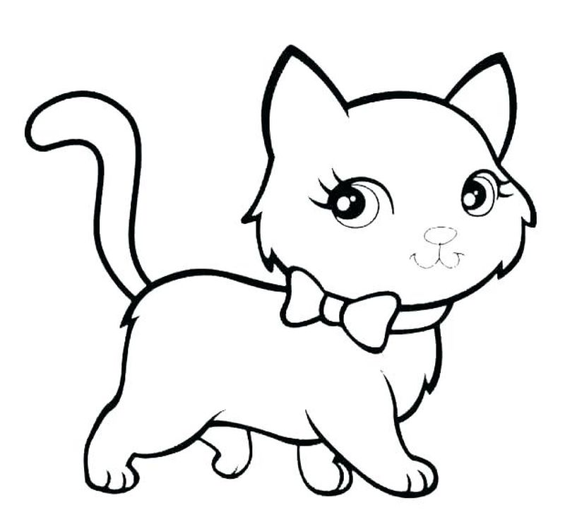 Coloring Pages Baby Cats