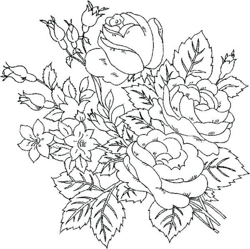 Coloring Pages Bees Flowers