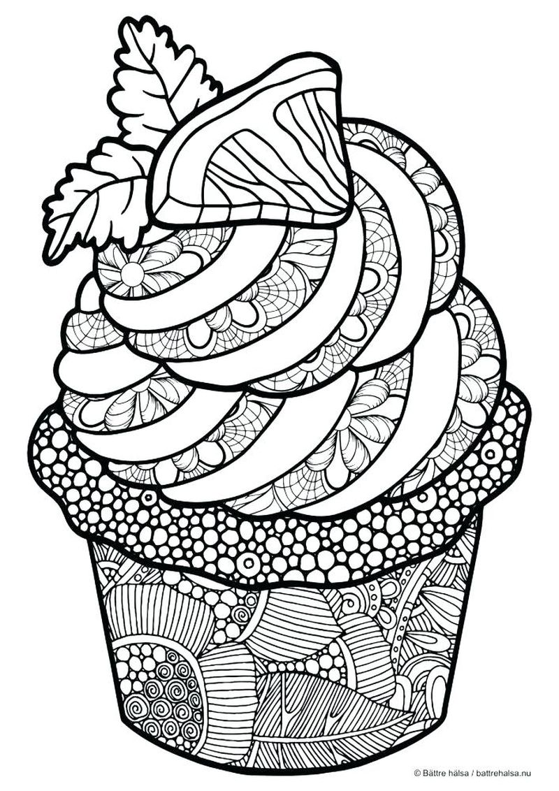 Coloring Pages Cupcake Cousins