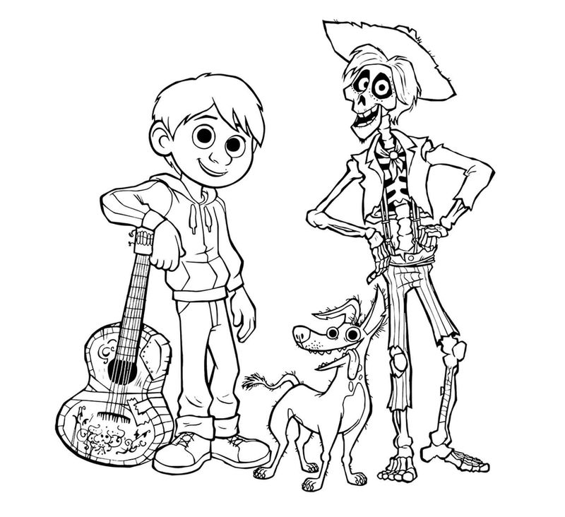 Coloring Pages Dante From Coco