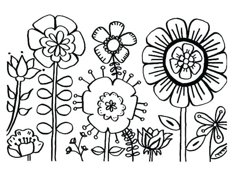 Coloring Pages Designs Flowers