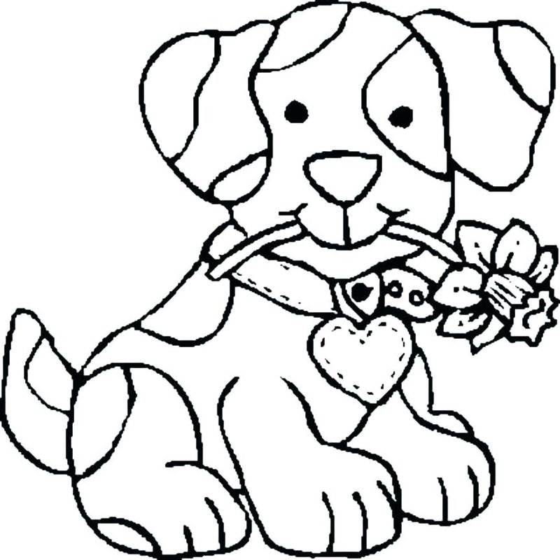 Coloring Pages Dogs Free
