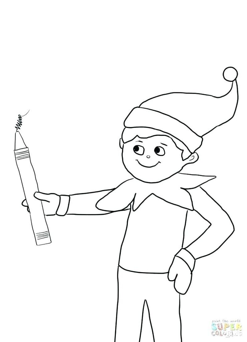 Coloring Pages Elf On The Shelf