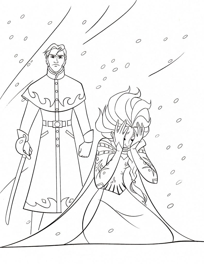 Coloring Pages Elsa And Olaf