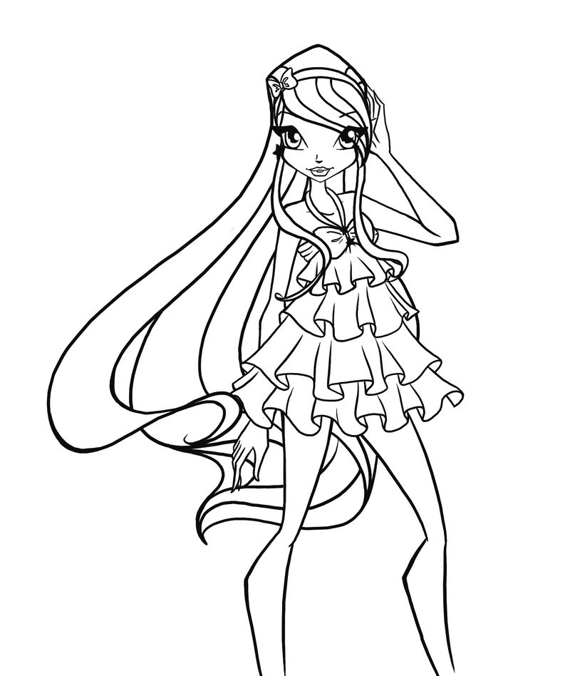 Coloring Pages For Adults Winx
