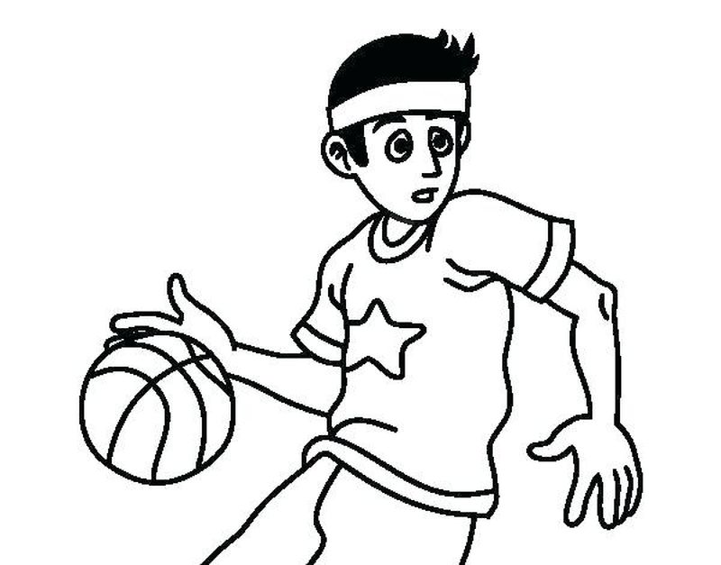 Coloring Pages For Boys Basketball