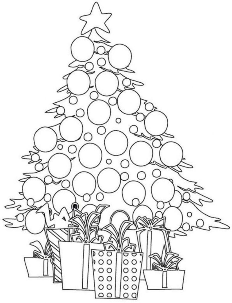 Coloring Pages For Christmas Tree