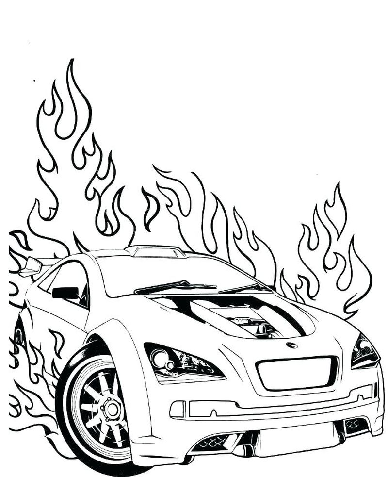 Coloring Pages For Hot Wheels