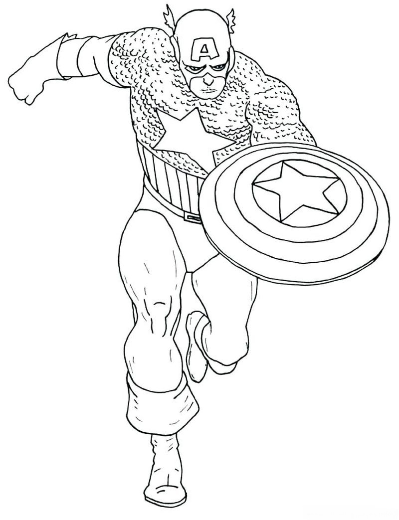 Coloring Pages For Kids Captain America