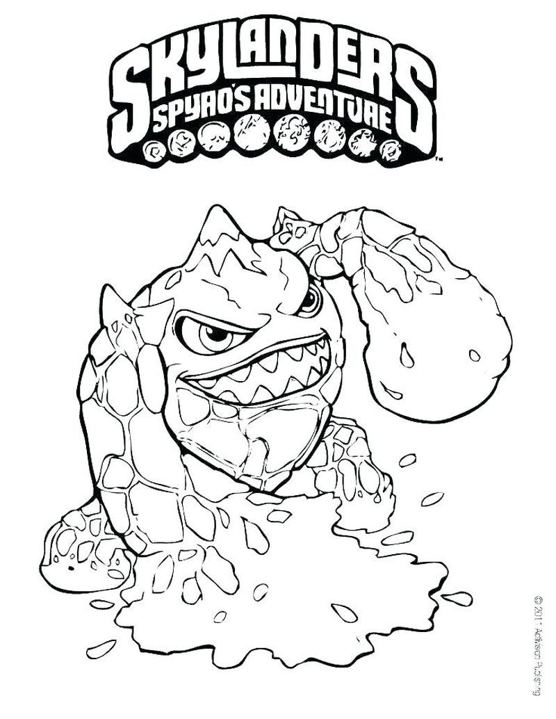 Coloring Pages For Skylanders