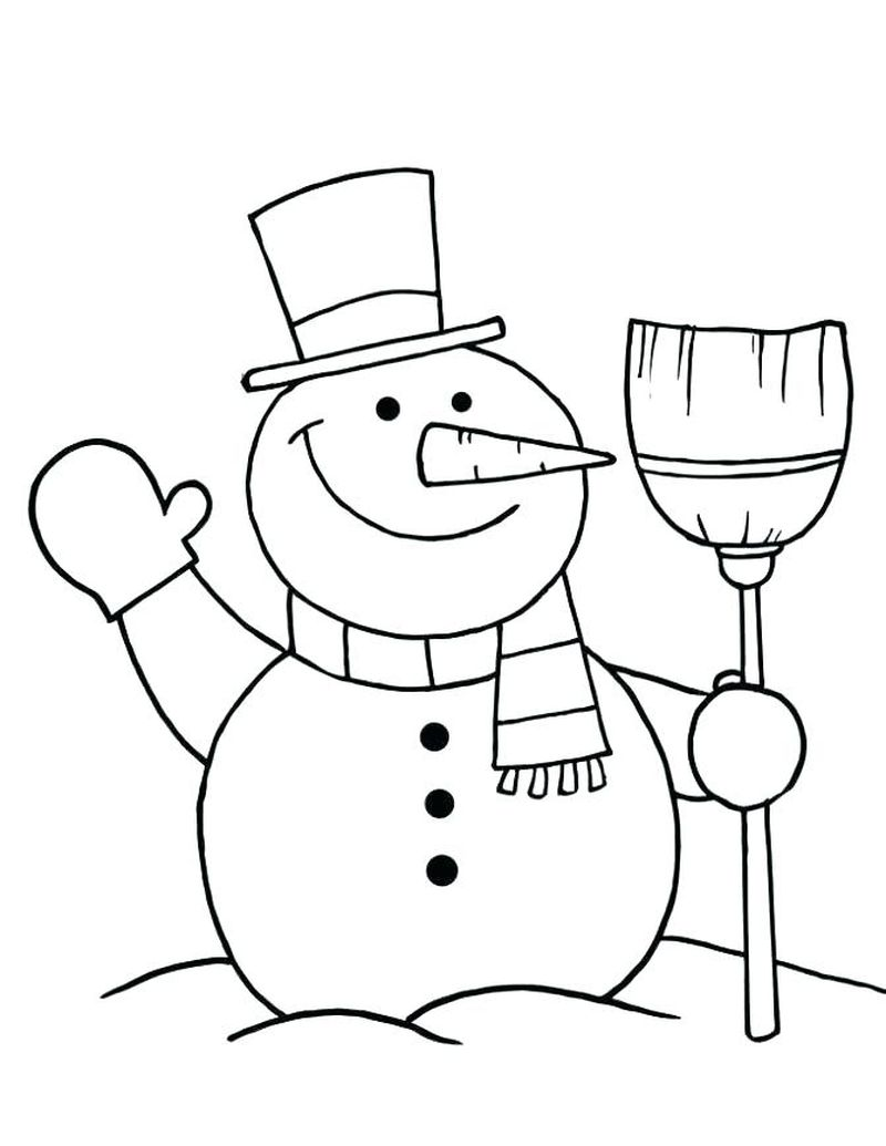 Coloring Pages For Snowman