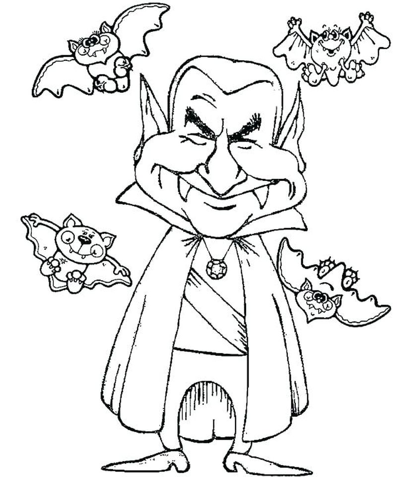 Coloring Pages Of A Bat