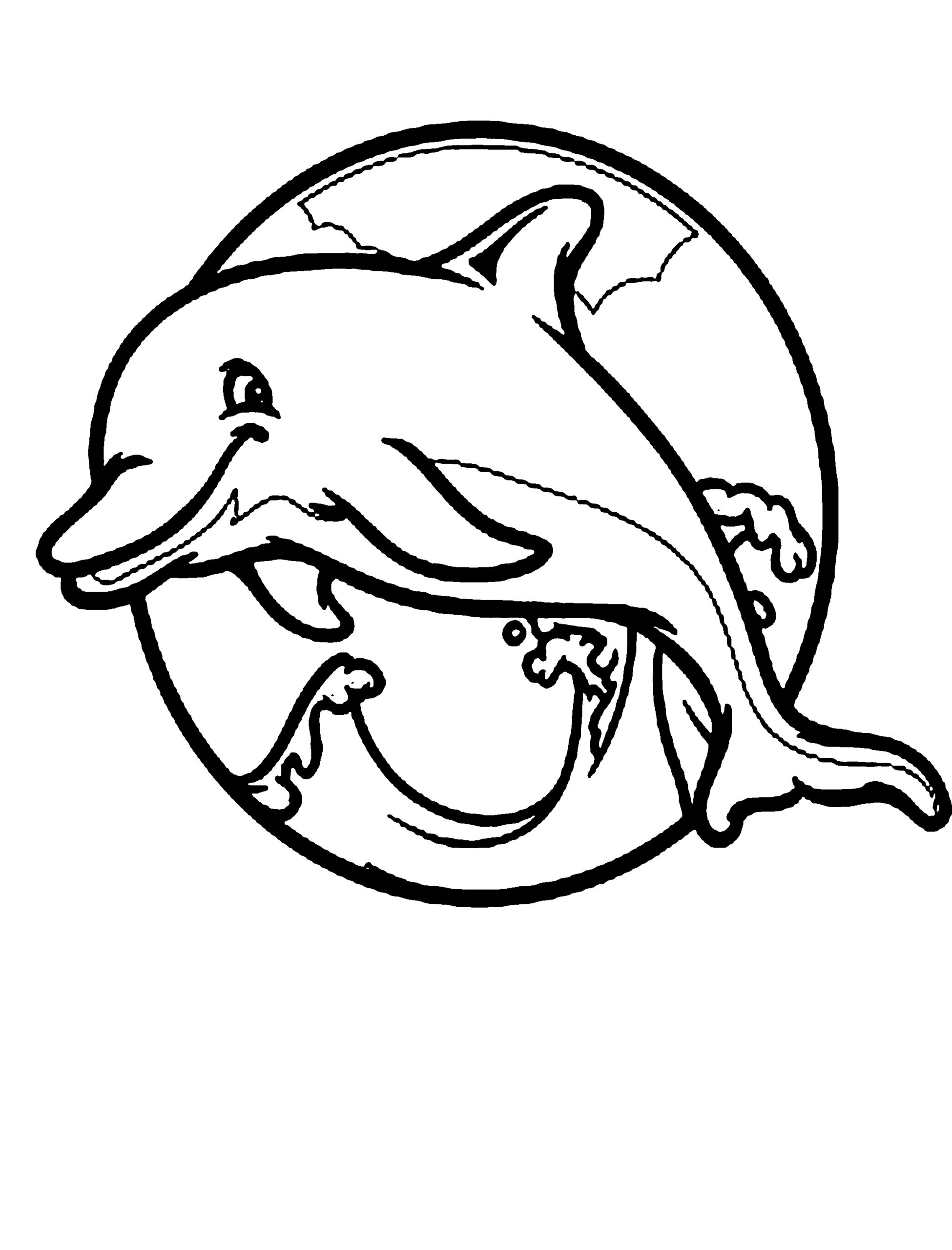 Coloring Pages Of A Dolphin