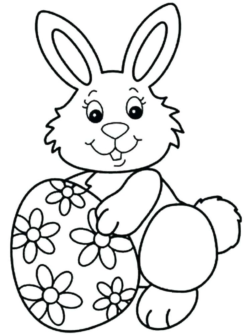 Coloring Pages Of A Easter Bunny